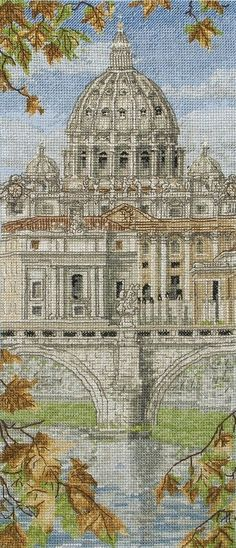 St Peter's Basilica by Anchor, counted cross stitch kit