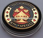 Gold Plating Cheap custom metal poker chips