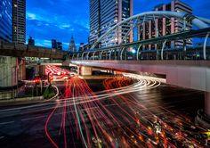Bangkok Lights - Chong Nonsi BTS station in Bangkok
