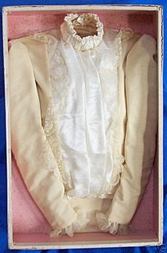 """Victorian Lady's Burial Garment. Late 1800s by """"Hearse Carriage Maker and Undertaker Suppier""""...""""St. Louis Coffin Co."""""""