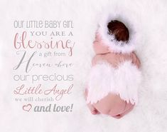 Word Overlay, Our little baby girl you are a blessing a gift from Heaven above, little angel quote overlay on Etsy, $2.91