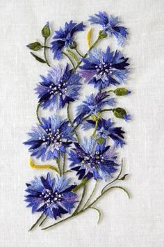Wonderful Ribbon Embroidery Flowers by Hand Ideas. Enchanting Ribbon Embroidery Flowers by Hand Ideas. Embroidery Needles, Crewel Embroidery, Silk Ribbon Embroidery, Hand Embroidery Designs, Cross Stitch Embroidery, Embroidery Supplies, Hand Embroidery Flowers, Embroidery Ideas, Embroidery With Beads