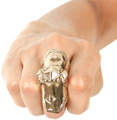 Singer22  Armor Knuckle Ring in Gold - by Low Luv x Erin Wasson  $80