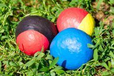 Jonglierbälle aus Reis und Luftballons