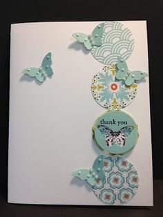 Teeny Tiny Wishes and Bitty Butterfly Thank you card   Stampin' Up! Rubber Stamping