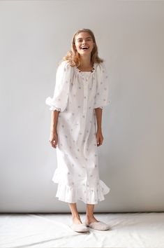 Cute Dresses, Summer Dresses, Cotton Sleepwear, Pajamas Women, Holiday Outfits, Pyjamas, Get Dressed, Lounge Wear, Fashion Dresses