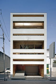 UID - Machi building renovation, Hiroshima I like the facade design. Architecture Du Japon, Houses Architecture, Japanese Architecture, Residential Architecture, Amazing Architecture, Contemporary Architecture, Interior Architecture, Minimal Architecture, Installation Architecture