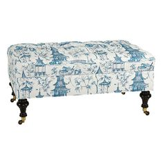 Castered Tufted Storage Ottoman @ballarddesigns