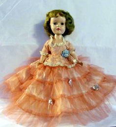 Sweet Sue Doll Wearing Pink Cotillion. Short hair style like my doll. A little mommy cut her hair pretty short.