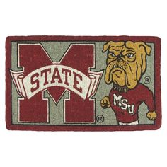 """Mississippi State Bulldogs Evergreen Team Sports America Welcome Mat (18"""" x 30"""")"""
