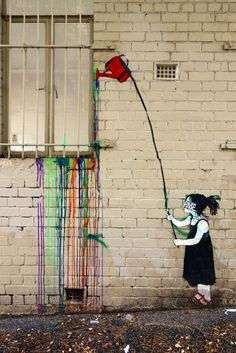 Street Art - Melbourne, Australia #streetart #graffiti #street art ♥≻★≺♥