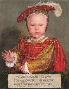 Hans Holbein the Younger - Edward VI as a Child - Google Art Project - Eduardo VI de Inglaterra – Wikipédia, a enciclopédia livre