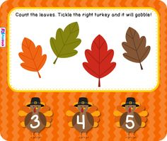 FREE! Have fun counting leaves and tickling turkeys to make them gobble in this fun, autumn-themed Smart Board game.