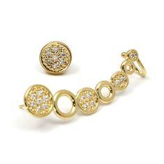 #Ear #Cuff: wish list do momento! Banho de ouro 18 K cravejado de Zircônias 4 cm de comprimeto.  http://www.alessandraschmidt.com/prod,IDLoja,23604,IDProduto,4005558,brincos-ear-cuff-em--banho-de-ouro-18k