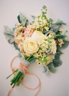 Pale Yellow and Salmon | Burnett's Boards - Daily Wedding Inspiraton