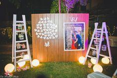 Wedding decorations - Night decor ideas and elements Desi Wedding Decor, Marriage Decoration, Wedding Decorations On A Budget, Engagement Decorations, Wedding Mandap, Backdrop Decorations, Diy Wedding, Purple Wedding, Backdrops