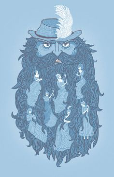 Allusion: Bluebeard's Castle Bluebeard keeps his wives locked up in a castle. He goes off on his trip and allows her to have the keys. She isn't allowed to open up a specific door, and she does anyways. She finds the bodies of the former wives.