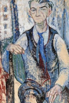 Self portrait - Leo Gestel 1926, Dutch, 1881-1941, Mixed media on paper, 95 x 63.5 cm
