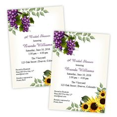Bridal Shower  Invitation Template  Tuscan Theme  by AJsPrints