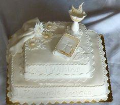 Znalezione obrazy dla zapytania tort komunijny piętrowy dla chlopca - styl angielski