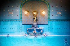 Art Nouveau fountain at Gellert Baths. Image by Will Sanders / Lonely Planet…
