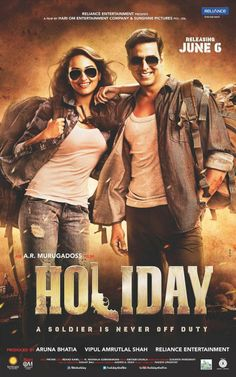 Sonakshi Sinha and Akshay Kumar | *HOLIDAY: A Soldier is Never Off Duty* SWAG - Postcards and Posters http://www.fallinginlovewithbollywood.com/2014/06/holiday-swag-postcards-and-posters.html