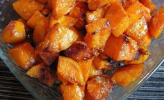 Ingredients    3 Sweet potatoes, peeled and cut into bite size cubes  2 tsp olive oil  1 tbsp butter  1 tbsp of brown sugar (more if you want it sweeter)  1 tsp of ground cinnamon  1/4 tsp of ground nutmeg  Pinch of ground
