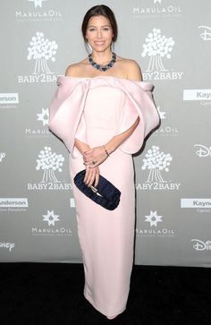 """Best dressed 18.11.15: Jessica Biel in Monse at the Baby2Baby Gala in Los Angeles """"Like perfectly draped fairy floss this number is a winner on Biel and the blue accessories make the perfect finishing touches."""" – Lilith Hardie Lupica, commercial producer """"Jessica looks pretty in this pale pink hue, combined with an art inspired soft sculptural and breezy shoulder."""" – Bec McDiven, senior designer """"I think this Monse dress is absoutley gorgeous, I think on Jessica's body this dress could…"""