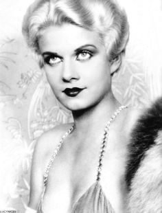 Jean Harlow's hair and make-up test for her role in the 1930 Howard Hughes production Hell's Angels