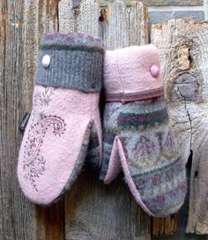 Pink Passion   The Original Muttons Handmade by MuttonsMittens, $39.00
