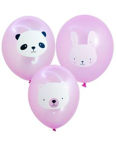 Balloon: Baby animals pink - A Little Lovely Company