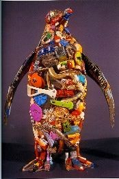 This is an example of an additive sculpture made from a magazine ...