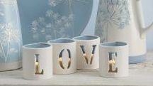 Set Of 4 Ceramic Tealight Holders from Next