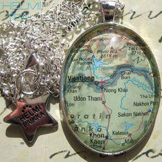 Tilaustyönä #karttakoru #UdonThani #SakonNakhon <3
