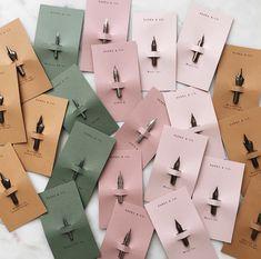 | calligraphy wedding inspiration | creative wedding favor | calligraphy wedding favor | pen tip wedding favor |