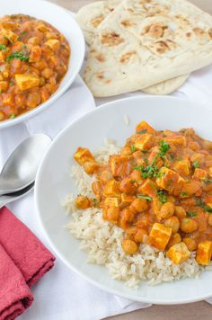 Slow Cooker Butter(less) Chickpeas and Tofu!