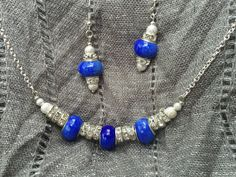 Brilliant Blue Murano Lampwork Rondelles And by BeriMadeJewelry, $17.00
