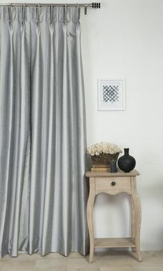 'WESTON OZONE GREY' MADE TO MEASURE DRAPES $46.00  https://www.spiffyspools.com/collections/silk-curtains/products/weston-ozone-grey-curtains?variant=1821112303640