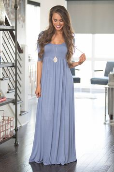 What You're Looking For Maxi Dress Denim - The Pink Lily