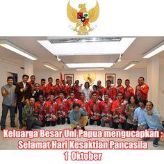 Keluarga Besar Uni Papua Mengucapkan :  Selamat Hari Kesaktian Pancasila  1 Oktober  www.unipapua.net  #unipapua #socialfootball #sepakbolasosial #kesaktianpancasila #indonesia #harikesaktianpancasila #1oktober #sepakbolakarakter #sepakbolakemanusiaan  -AH-