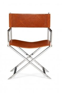 Charming Leather On Stainless Steel Directoru0027s Chair Directoru0027s Chair, Leather  Dining Chairs, Restaurant Chairs,