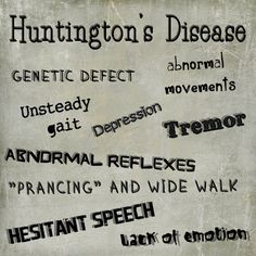 Skittles In The Pit: Mental Disorders - Huntington's Disease