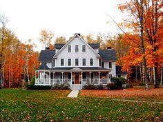 Gorgeous fall foliage at The Maple Leaf Inn - Barnard, Vermont