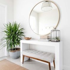 Timeless in style, our Mid-Century Bench makes for a handsome addition to the hallway, mudroom, or at the foot of your bed. Modern Entryway, Entryway Decor, Modern Decor, Bedroom Decor, Contemporary Decor, Bedroom Ideas, A Frame Cabin, A Frame House, Foyer Decorating