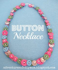 How to make Button Necklaces