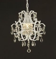 wrought iron crystal chandelier lighting country french white one light free shipping ceiling fixture amelie distressed chandelier perfect lighting
