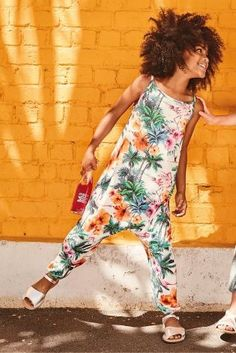 This tropical playsuit is so right this holiday season!