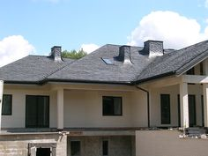 Łupek dachowy, łupek kamienny, łupek naturalny, dach z łupka Home Fashion, Mansions, House Styles, Home Decor, Decoration Home, Room Decor, Fancy Houses, Mansion, Manor Houses