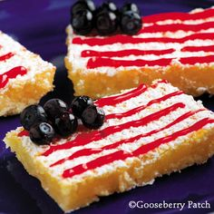 Gooseberry Patch Recipes: Fourth of July Lemon Bars - THIS is now my dessert for the 4th!  When it's right...you just know... ;D