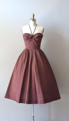 vintage 50s dress / 1950s halter dress / Ballerino por DearGolden, $288.00
